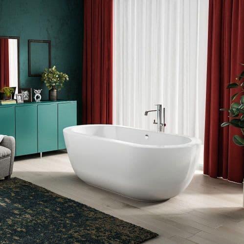 Charlotte Edwards Olympia Contemporary Freestanding Bath - 1800 x 855 x 600mm