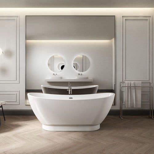 Charlotte Edwards Richmond Contemporary Freestanding Bath - 1760 x 680 x 680mm