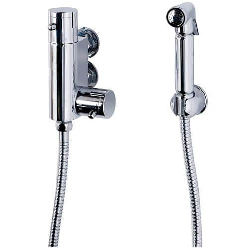 CHROME DOUCHE BIDET SHATTAF MUSLIM SHOWER SPRAY BRASS THERMOSTATIC VERTICAL SHOWER VALVE KIT SET