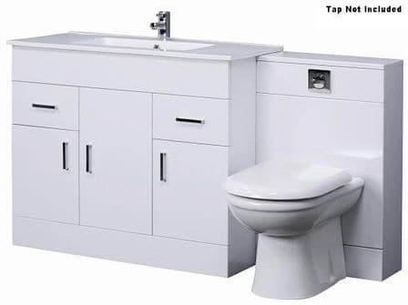 Combination Basin & WC Vanity Unit