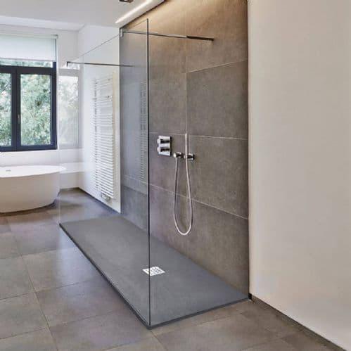Deluxe10 Walk Through 1000mm Wet Room Shower Screen 10mm Easy Clean Glass Walk-In Panel