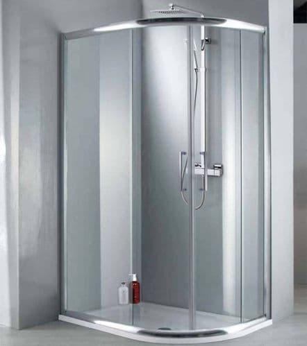 Elite 1000mm x 800mm Double Door Offset Quadrant Shower Enclosure 8mm Glass