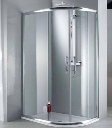 Elite 1200mm x 900mm Double Door Offset Quadrant Shower Enclosure 8mm Glass