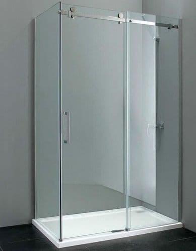 Elite 1400mm x 800mm Frameless Sliding Shower Enclosure 8mm Glass