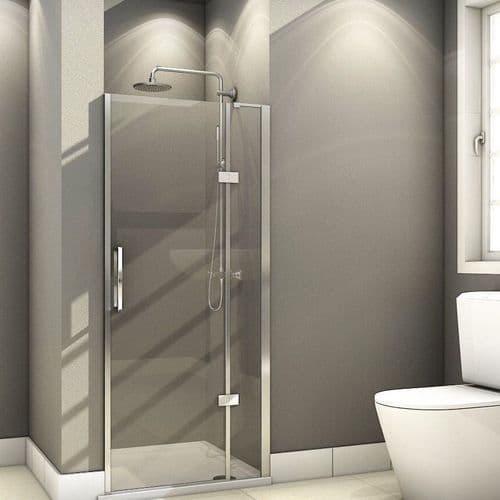 Fortuna Elite 700mm Frameless Hinged Shower Door 8mm Glass (1)