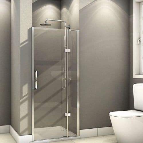 Fortuna Elite 900mm Frameless Hinged Shower Door 8mm Glass