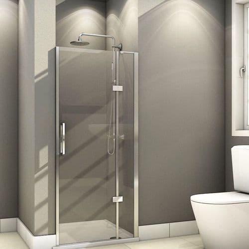 Fortuna Elite 900mm Frameless Hinged Shower Door 8mm Glass