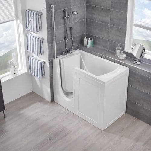 Oregon Low Level Access Deep Soak Walk in Bath 1195mm x 715mm BioCote Antimicrobial  Tub