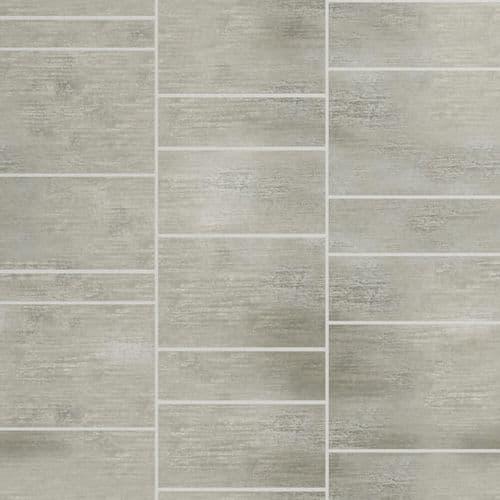 Grey Stone Tile Effect- PVC Cladding Bathroom Shower Wall Panels - W600mm x H2400mm Shower Board