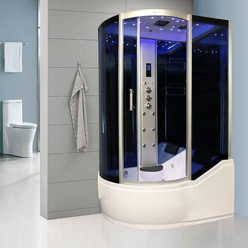 Insignia GT8058 Steam Shower Whirlpool Shower Bath 1500mm x 900mm | Furniture Store UK