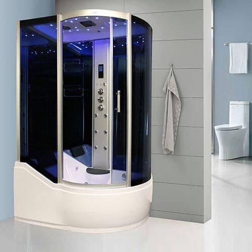 Insignia INS8058L Steam Shower Whirlpool Shower Bath 1500mm x 900mm LEFT HAND