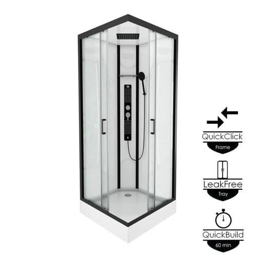 Insignia Monochrome 900mm x 900mm Square Shower Cabin