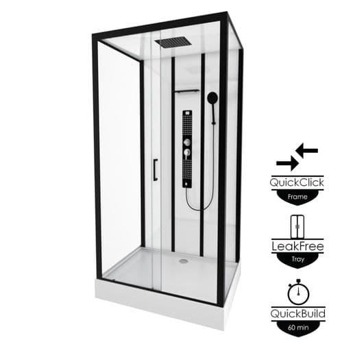Insignia Monochrome Rectangle 1150mm x 850mm Shower Cabin