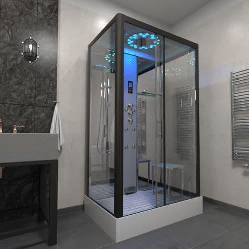 Insignia Platinum 1050mm x 850mm Rectangle Steam Shower Cabin