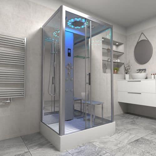 Insignia Platinum 1150mm x 850mm Rectangle Hydro Shower Cabin