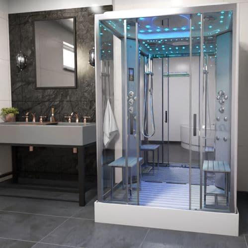 Insignia Platinum 1400mm x 900mm Rectangle Steam Shower Cabin