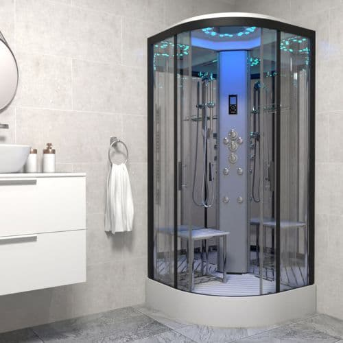 Insignia Platinum 800mm x 800mm Quadrant Steam Shower Cabin Customise Frame