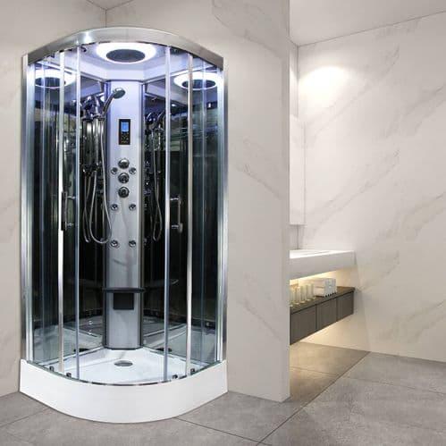 Insignia Premium 1000mm x 1000mm Non Steam Quadrant Hydro Shower Cabin - Customise Frame and Glass