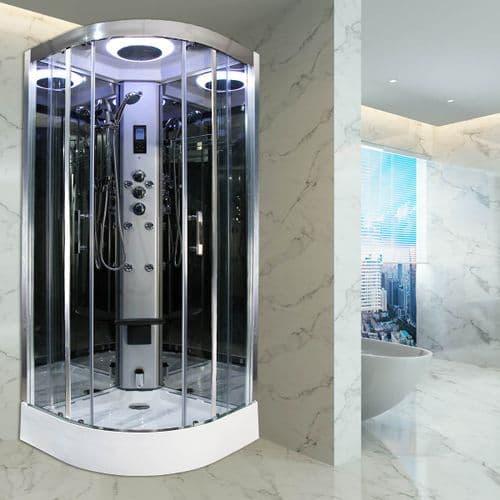 Insignia Premium 900mm x 900mm Quadrant Steam Shower Cabin Customise Frame / Glass