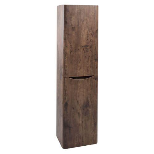 Jupiter Bali Chestnut Wall Mounted Tall Bathroom Cabinet Tallboy WMSC150C