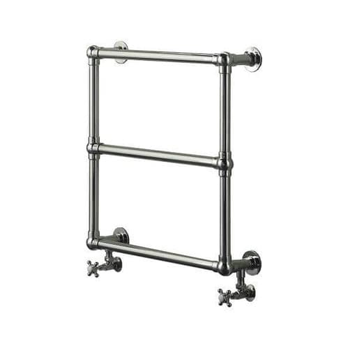 Jupiter Bathrooms Traditional Wall Mounted Chrome Heated Towel Rail 658mm x 658mm - CTR02