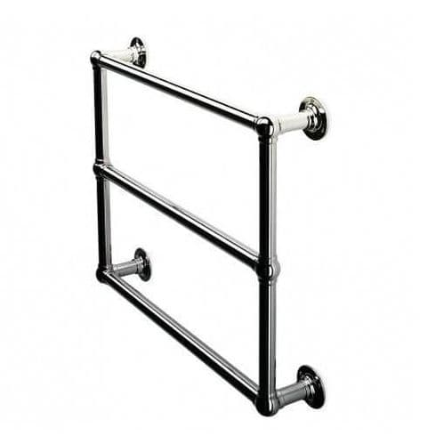 Jupiter Bathrooms Traditional Wall Mounted Chrome Heated Towel Rail 690mm x 498mm - CTR05