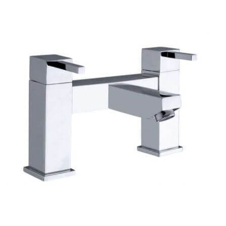 Jupiter Black Chrome Bath Filler Tap - TF9705