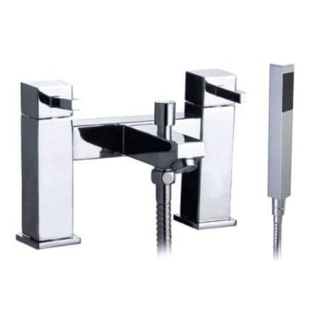 Jupiter Black Chrome Bath Shower Mixer - TF9701