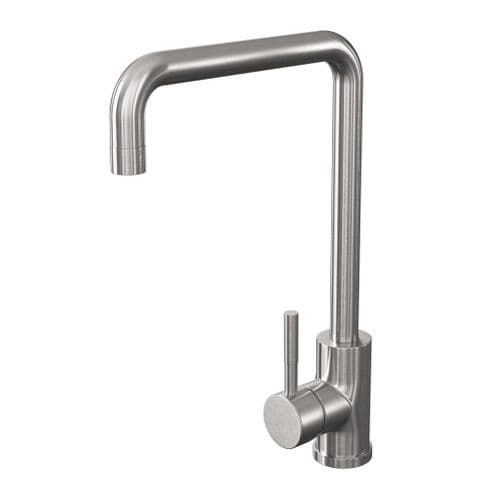 Jupiter Brushed Stainless Steel Single Lever Mono Kitchen Sink Mixer KTA026