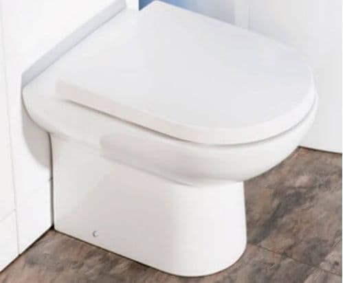 Jupiter Ceramic D Shaped Back to Wall Toilet without Seat PAN001