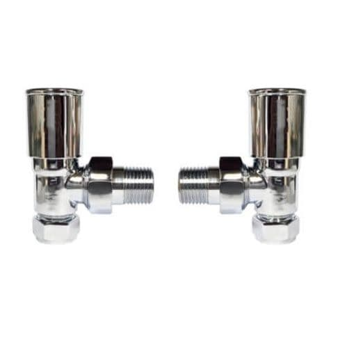 Jupiter Chrome Angled Round Radiator Valves ARHVS2
