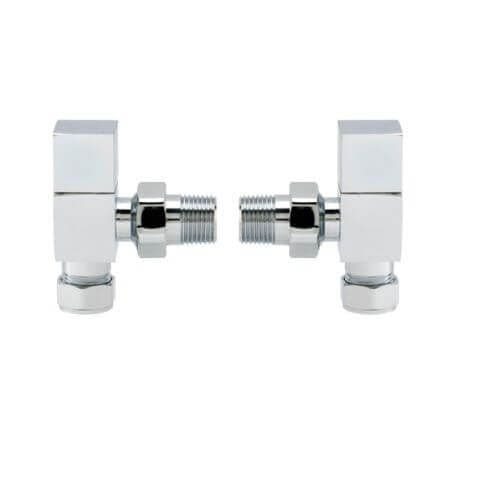 Jupiter Chrome Angled Square Radiator Valves ASHVS1