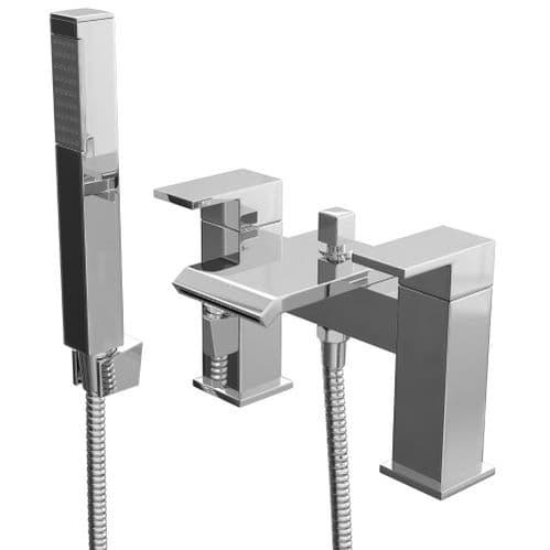 Jupiter Colraine Waterfall Deck Mounted Chrome Bath Shower Mixer with Shower Kit FAZ002