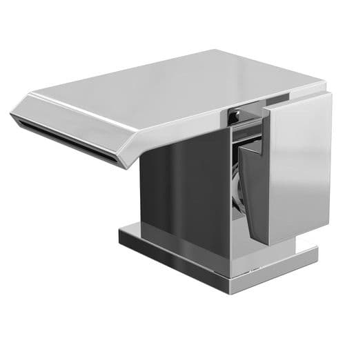 Jupiter Colraine Waterfall Mono Basin Mixer Tap Deck Mounted with Click Clack Waste FAZ001