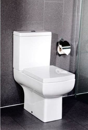 Jupiter Daisy Lou Square Close Coupled Toilet and Cistern