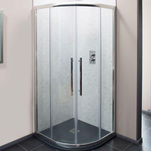 Jupiter Double Door 900x900mm Quadrant Shower Enclosure - 8mm Easy Clean Glass XL90Q