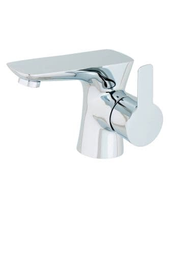 Jupiter Dublin Chrome Mono Basin inc Push Button Waste - PED001