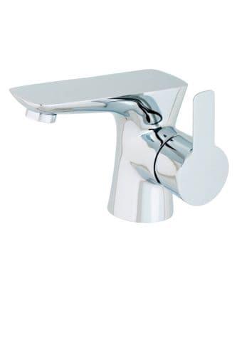 Jupiter Dublin Chrome Mono Basin inc Push Button Waste - PED001