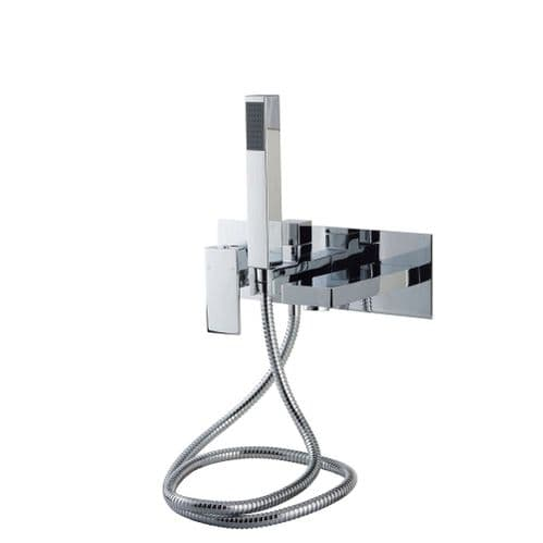 Jupiter Form Wall Mounted Bath Shower Mixer Tap Polished Chrome Finish FRM006