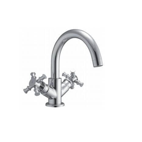 Jupiter Georgian Chrome Basin Mixer Including Pop Up Waste TF7802