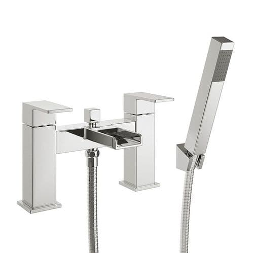 Jupiter Haze Chrome Waterfall Bath Shower Mixer with Hose & Handset - DUK002