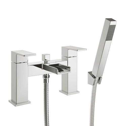 Jupiter Haze Chrome Waterfall Bath Shower Mixer with Hose & Handset - DUK002