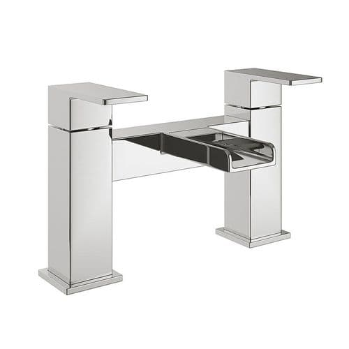 Jupiter Haze Chrome Waterfall Deck Mount Bath Filler Tap DUK003