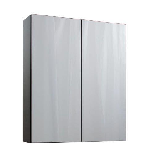 Jupiter Idon Wall Hung 600mm 2 Door Mirror Cabinet Black Ash -  ID60MC-BLK