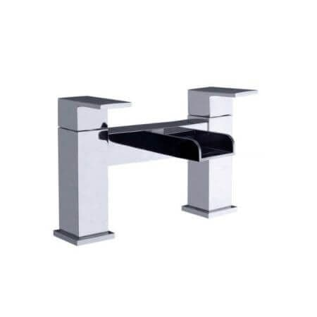Jupiter Ingot Chrome Waterfall Bath Filler Tap - TF2305