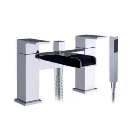 Jupiter Ingot Chrome Waterfall Bath Shower Mixer - TF2301