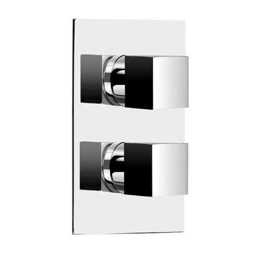 Jupiter Istra Square Concealed Shower Valve - Twin Handle - Chrome TCSV01