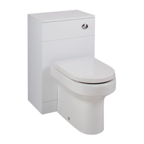 Combination Basin & WC Vanity Units: Turin Gloss White Cloakroom Suite 800mm  from Premier