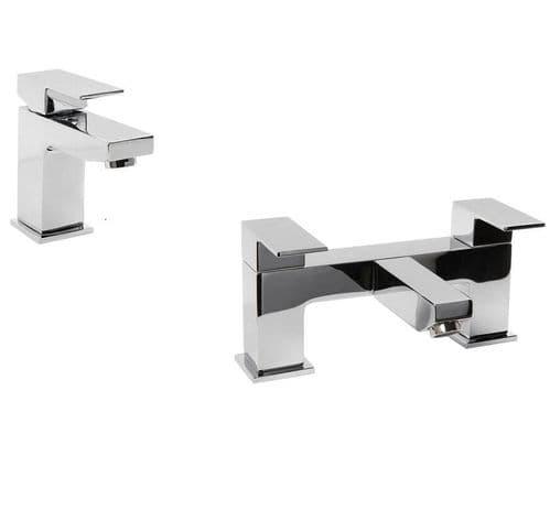 Jupiter Luna Tap Basin Mixer & Bath Filler Bathroom Tap Pack