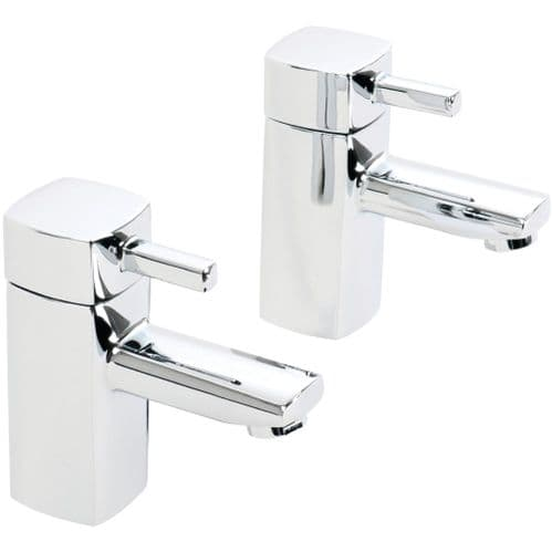 Jupiter Nero Minimalist Bath Sink Hot and Cold Bathroom Faucet Mixer Taps (Pair) NER005